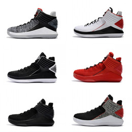 Wholesale Elastic Rubber Sports Running - 2018 Air Retro XXXII 32 Rosso Corsa University Red Black Men Basketball AH3348-601 Men's Sneakers Sports Basketball Shoes