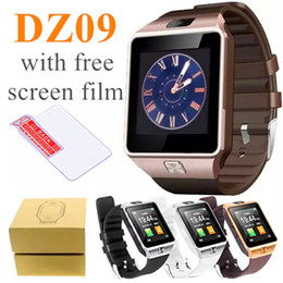 Wholesale Hot Portuguese - 2018 Hot Smart Watch DZ09 Support TF Sim Card Smartwatches with Camera fitness tracker Intelligent mtk smart watches for android ios phones
