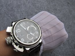 Relógios impermeável on-line-Edição limitada de 51 mm DIVER U-51 U51 cronógrafo de quartzo de trabalho Chrono Homens cronômetro relógio de pulso itália relógios à prova d 'água
