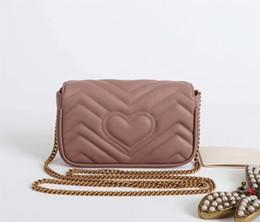 Wholesale body holder - brand new genuine leather women mini shoulder bag fashion summer samll cross body bag with chain 476433