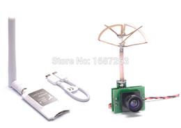 mini transmisor de cámara Rebajas FPV 5.8G 48CH 25MW VTX 1000TVL Cámara FPV Transmisor incorporado + Mini 5.8G Receptor FPV UVC Video Enlace descendente OTG VR