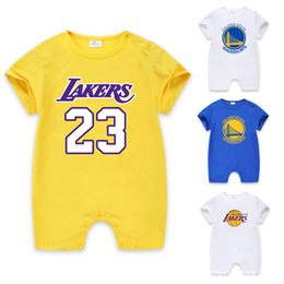 2018 sommer junge kleidung 100% baumwolle basketball kurzarm strampler baby neugeborene kleidung overall kurze babykleidung von Fabrikanten