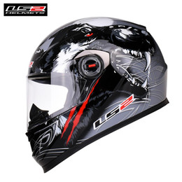 ls2 racing helmets Coupons - Capacete LS2 Motorcycle Helmet Full Face FF358 Racing Casco Moto Casque Motor Helm Many Colors