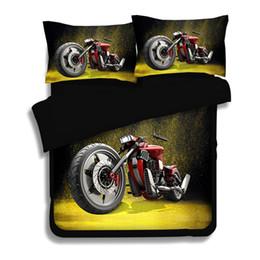 63f559f4dc Preto vermelho 3D Conjuntos Capa de Edredão Da Motocicleta impresso Fogo  Moto Rider Design 3 4 pcs Decoração Conjuntos de Cama conjuntos de Cama  macia ...