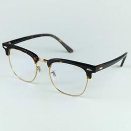 2019 quadros de qualidade óptica Top Qualidade Real Acetato 5154 Designer de Óculos de Armação Óptica Profissional 51mm Tamanho 4 Cores Facilmente para Mudar as Lentes 51mm 49mm quadros de qualidade óptica barato