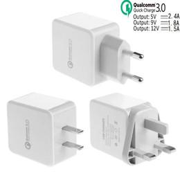 Быстрая адаптивная зарядка QC 3.0 5V 2.4 A 9V 1.8 A 12V 1.5 A Eu US Uk Ac home wall charger адаптер питания для ipad iphone samsung s7 s8 supplier 1.5a wall charger от Поставщики зарядное устройство 1.5a