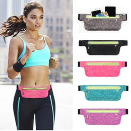 Mochila de gimnasio online-Unuversal Impermeable Correr Correr Deporte Fanny Pack TravelSports Gimnasio Cinturón Bolsa Bolsa Funda Funda Bolsillo para iPhone 7 5.5 Samsung S9