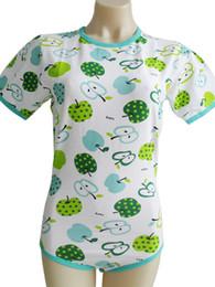 bodysuit de impressão de maçã verde / macacão de adulto / adulto bodysuit / macacão de bebê de adulto / abdl roupas / bodysuit adulto de impresso de Fornecedores de roupa verde da maçã