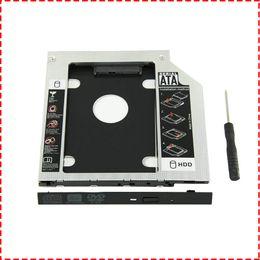 caddy ide sata Sconti Universal 9,5 mm SATA a SATA 2 ° SSD HDD Hard Drive Caddy Contenitori vassoio adattatore per DELL HP Lenovo ThinkPad ACER Gateway ASUS