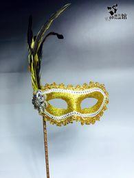 Plumas de la mascarilla completa online-Máscaras de la mascarada de plumas multicolores de 2018 Full Face sexy máscaras nupciales de Halloween Máscaras de la mascarada de Halloween Máscara de fiesta para dama