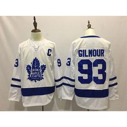Mens Toronto Maple Leafs 100th Anniversary Doug Gilmour casa lontano blu bianco maglia da hockey Tutti i giocatori cheap maple leaf homes da case di foglie di acero fornitori