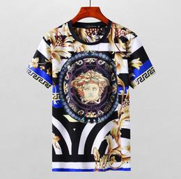 Wholesale medusa men - ZZ Polo T-shirt street 2018 designer polo shirt Fashion Luxury Brand medusa t shirts mens Casual Cotton polos with embroidery snake applique