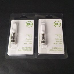 Wholesale Mouthpiece Black - OEM Logo Clam Shell Blister Packaging Glass CCELL vaporizer TH205 Ceramic cartridge .5ml White Black ceramic mouthpiece Thick oil Atomizer