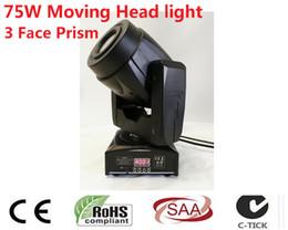 Wholesale Led 15 W - Wholesale- 2X75 W Gobo LED Moving Head Light 3 Face Prisma Controller DMX A 4 15 Canali per Palcoscenico Discoteca Nightclub Partito