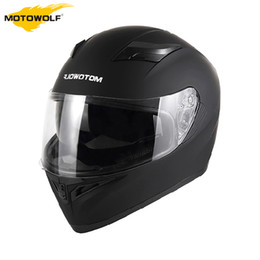 double flip motorcycle helmet Promo Codes - MOTOWALF Motorcycle Helmet Flip Up Helmet Capacete Racing Motorcycle Casco Moto With Inner Sun Visor Double Lens