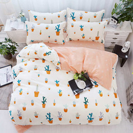 Wholesale Linen King Duvet - Elegant Duvet Cover Pillow Cases Single Twin Double Full Queen King Bedspreads Home Textiles Bed Linens 3PC Shark Horse Cat Plant Bed Cover