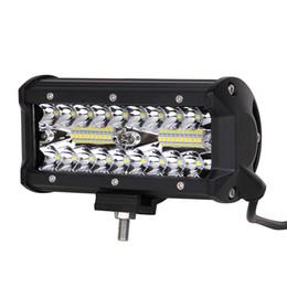 ECAHAYAKU 1 unids 120 W llevó barra de luz de trabajo de 7 pulgadas para Tractor Barco Off-Road Camión Suv Atv Spot Flood Combo 12 V 24 V luces de conducción desde fabricantes