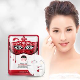 Wholesale masks fancy - Original BIOAQUA Dance Party Oil Control Facial Masks Smooth Face Mask Moisturizing Whitening Fancy Dance Party Facial Mask 4 Colors 3001212