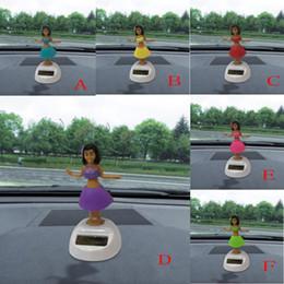 2019 gadget dell'automobile solare Hawaii Girl Solar Powered Dancing Animal Swinging Animato Bobble Dancer Decorazione Gadget Car-Styling per tutte le auto universali sconti gadget dell'automobile solare