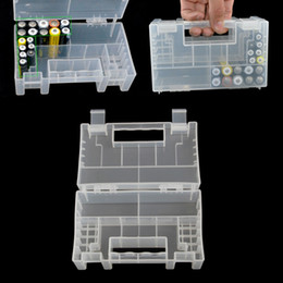 Wholesale Hard Plastic Containers - 15cm Hard Plastic Battery Case Organizer Holder Container Battery Storage Box for AAA,AA,9V battery,Card Reader and SD Card