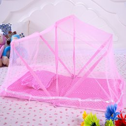 Wholesale Canopies For Beds - Good Quality Brand Foldable Portable Baby's Mosquito Net For Infants Babies Bed Canopy Nets+Cotton Pad+Pillow+Music Baby Dossel