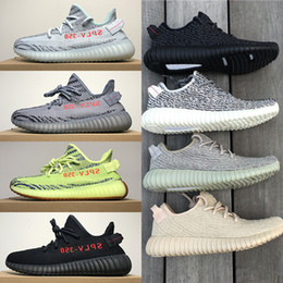 Wholesale Rubber Mesh - Mens Shoes Blue Tint 350 V2 V1 Sneakers Moonrock Black Size 13 Womens Sport Casual 2018 Running Shoes for Men Zebre Oreo Bred