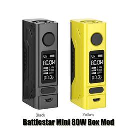 Wholesale Metal Back - 100% Original Smoant Battlestar Mini 80W Box Mod VW TC Single 18650 Battery Mod With Durable Magnets Back Cover 0.96inch OLED