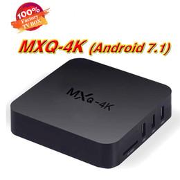 Wholesale Dvb S2 Usb Receiver - Quad-core 1G mxq 4k 1080p HD digital Android 7.1 smart set-top set top TV box usb hdmi WiFi network DVB s2 Internet receiver iptv
