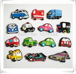 Wholesale Animal Car Magnets - Free shipping (14pcs lot) Cartoon Car fridge magnets whiteboard sticker Silicon Gel Refrigerator Magnets Educational Kids gift