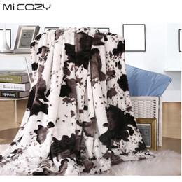 2019 lanças de pele Micozy grão de vaca cobertor de peles artificiais dupla camadas ultra macio pv plush inverter polar sofá de lã lance cobertor, 125x150 cm desconto lanças de pele