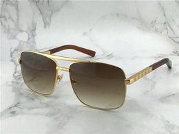 Wholesale vintage style sunglasses men - popular classic men outdoor sunglasses attitude gold square design frame uv400 protection eyewear vintage summer style