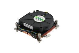 Ventola 75 * 75 * 10MM LGA1150 / 1155/1156 doppio cuscinetto a sfera 4Pin ultra sottile 1U server di rame radiatore dissipatore di calore CPU 12V ~ 0.28A da