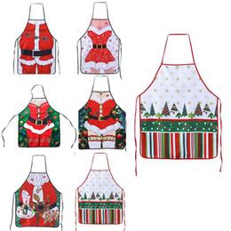 Wholesale Funny Christmas Decor - High Quality 1Pc Santa Claus Skin Design Funny Xmas Decoration Apron for Women Men Dinner Party Cook Christmas Decor Supplies