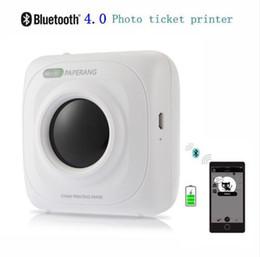 2019 foto bluetooth PAPERANG P1 Impresora Portátil Bluetooth 4.0 Impresora de fotos Teléfono Conexión inalámbrica Impresora 1000mAh Batería de iones de litio