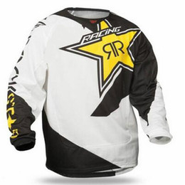 Wholesale Road Racing Clothing - 2018 MX MTB Off Road Mountain Bike Tops Breathable MTB DH Downhill Clothing Jersey Long Sleeve Moto Jersey DH BMX