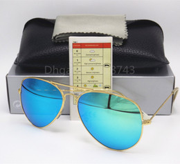 Wholesale Mirror Aviators Sunglasses - Aviator SunGlasses Eyewear Colorful Coating Optical Glasses Retro SunGlasses Green flash 58MM 62mm Men Women mirror lens Sun Glasses Eyewear