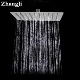 Grandes cabeças de chuveiro quadradas on-line-Casa de banho parede grande chuveiro cabeça de chuva de 10 polegada de aço inoxidável chuveiro quadrado Simples 25 cm cachoeira top chuveiro ZJ050