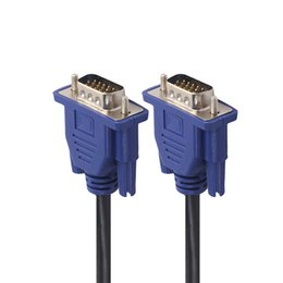 2019 cavo da 15 pin vga 1.5m / 3m / 5m Monitor per computer VGA Cavo di prolunga Cavo VGA HD 15 Pin Maschio a Maschio Cavo VGA Linea di rame per PC portatile sconti cavo da 15 pin vga
