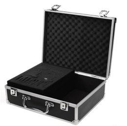 Wholesale Shop Tattoos - Large Tattoo Kit Carrying Black Colors Case with Lock starter case high quality and free shopping