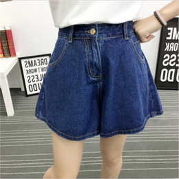 Wholesale Wide Fat Woman - 2018 spring and summer new high-waist loose loose thin fat plus code XL wide leg denim shorts