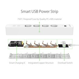 Wholesale Outlet Power Strip Surge Protector - power strip NTONPOWER NSC Smart Power Strip Socket EU Plug Overload Switch Surge Protector 4 Outlet 4 Port USB Charger