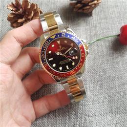 Canada 44mm New Gent's GMT II relogio masculino Marque de luxe Analog sport Montre-bracelet Date de la montre pour hommes Montre à quartz Business Watch Hommes Montres Offre
