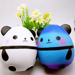 Wholesale plastic egg packaging - Jumbo Panda Egg Squishy Slow Rising Cute Kawaii Squishies Animals Stress Relief Toys Package Kids Gifts Promote