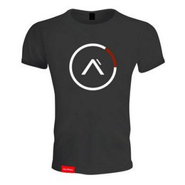 Wholesale shirts body fitting - Men's Sport Short Sleeved t-shirt.round collar casual t shirt with front print fit body style for running and exercise