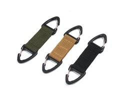 backpack clasp Coupons - Outdoor Molle Webbing Belt Clip Backpack Carabiner - Double Buckle Tactical Backpack Bag Webbing Belt Clip Clasp EDC Hanging Chain Key Hook