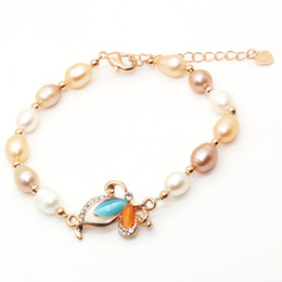 Wholesale natural opal bracelets - 2018 Glamour Jewelry Natural Freshwater Pearl Bracelet Opal Pearl Bracelet Gives Surprise Gift for Lover