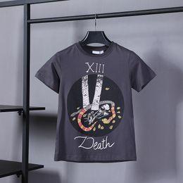 Wholesale death shirts - 18ss Luxury Europe Paris Tarot Death Snake Skull Tshirt Fashion Men Women T Shirt Casual CD Tee