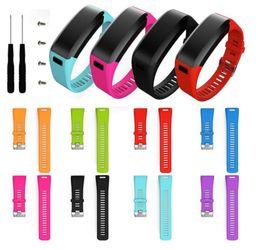 Argentina Reloj de pulsera de reemplazo de silicona suave Correa pulsera para Garmin vivosmart HR reloj inteligente con herramientas de tornillo Suministro