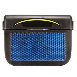 Ventiladores automáticos online-Solar Sun Power Mini aire acondicionado para el coche Ventanilla del coche Ventilación de aire Ventilador fresco Acondicionador portátil Ventilación