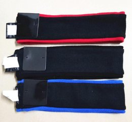 Wholesale Hot Letters - Hot Sup headbands fleece Black, Red and Blue 5 color Wool hair band Sweatband